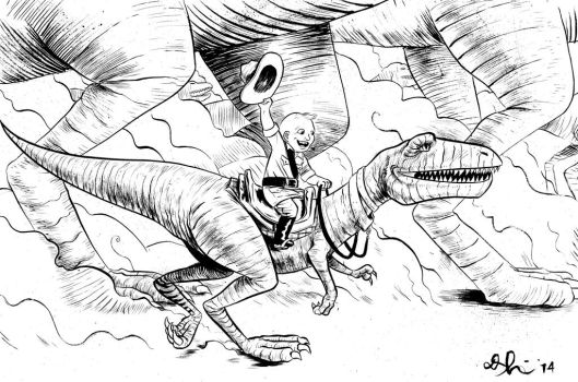 dinosaur wrangler commission by davechisholm