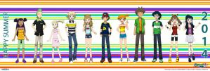 PKMN V - Full Group (SUMMER CASUAL VERSION) by Blue90