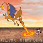 Courage meets Charizard by diasapacibles