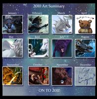 Summary of art 2010 by Grypwolf