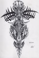 Tribal Devil Symbol by RoyCorleone
