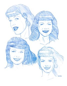 bettie page sketches 1 by fito-mtz