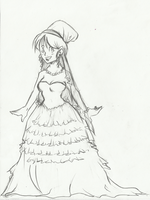 Wedding Gown sketch by Swamnanthas