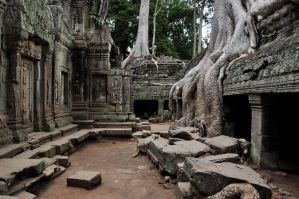 Ta Prohm Temple View by sushi-robots