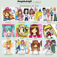 2012 summary of art! by Angelwing8
