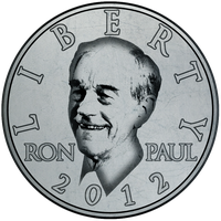 Ron Paul Coin Button by RonPaulDesigns