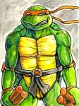 Daily Sketches Michaelangelo by fedde