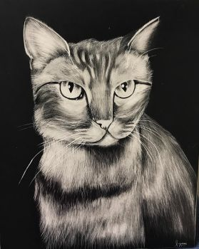 Sandy Scratchboard by LapisTiger