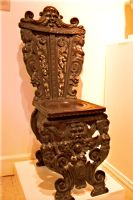 Antique ornate carved chair by paintresseye