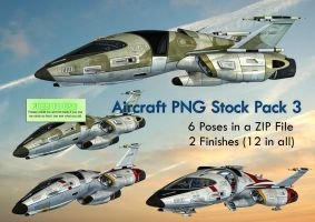 Aircraft PNG Stock Pack 3 by Roys-Art
