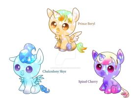 -Points Auction- Crystal Ponies OPEN by Golden-Birdie