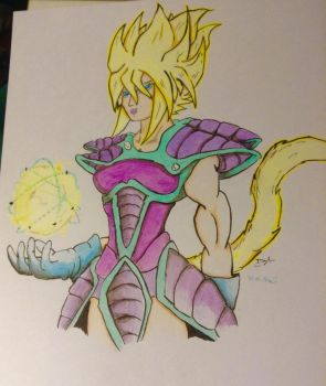Oc saiyan female mayze  by DragonGscales2015