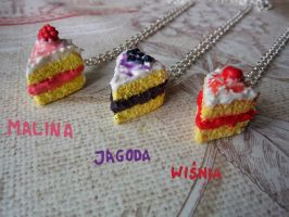 Sweet necklaces by Kaja-Rucia