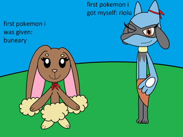 My Starting Two Pokemon by Rosetrap1987