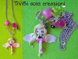 Fairy Necklace OOAK by tivibi