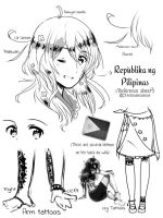 Philippines OC : Character / Reference Sheet by Prominessence