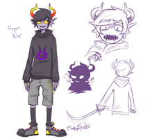 Victor Freyer [Fantroll, Homestuck] by TechnoSara