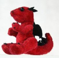 Red Tiny Baby Dragon Plush by The-GoblinQueen