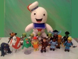 Stay Puft Mighty Mugg and pals by Derrico13