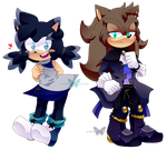 Meet Star Gazed the Hedgehog and Victor the Wolf by YukiCos