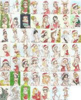 Christmas 2010 sketch cards by AmberStoneArt
