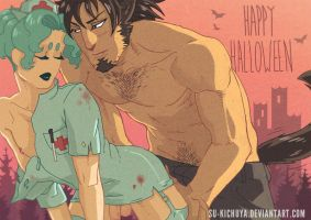 Happy Halloween 2014 from Ren and Aoi by Su-Kichuya