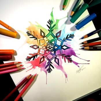 Rainbow Snowflake Commission by Lucky978