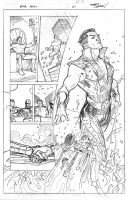 Namor Origin Pencil by TerryDodson