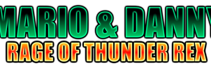 Mario and Danny Rage of Thunder Rex Logo by KingAsylus91