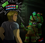 CAPTAIN AMERICA!!! ((TMNT Big Bang)) by Mysterious-D