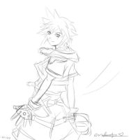 KH2 Sora Sketch by enchantma