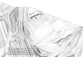 FFVII AC - YAZOO Face Sketch by Washu-M