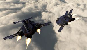 Thunderhawks in route by snip105