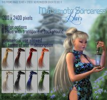 Matsumoto Sorceress HAIR STOCK by Trisste-stocks