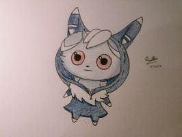 Psycho cat (Espurr in Meowstic onesie) by sg1221