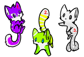 Kitten adoptables #3 by I3ooby