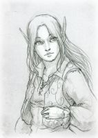Sketch Commission -  Ilana by SerenaVerdeArt