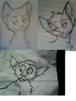 cat doodles by Bacon-Paws