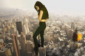 Giantess Kitty Visits New York by dochamps