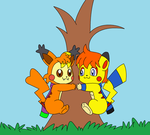 Kat And Pikachim Base Color by Kat-Skittychu