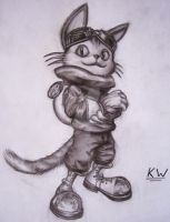 Blinx Pencil Drawing by Spectrum-VII