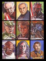 Star Wars Galactic Files Sketch Cards Topps 1 by LeeLightfoot
