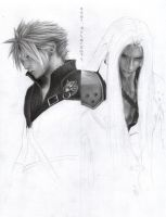 FF - Cloud and Sephiroth WIP 4 by D17rulez
