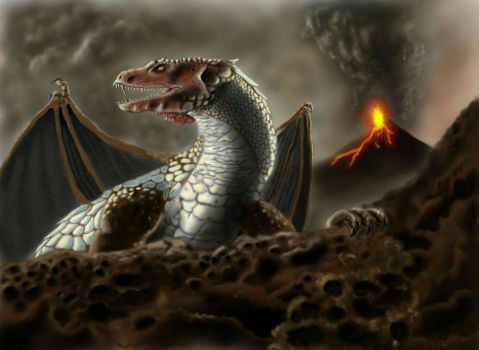 Dragon on the Slopes of Fire by sidefist
