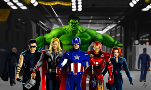 The Avengers by WeaponX-Art