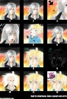 Sephiroth loses his hair by luzzy
