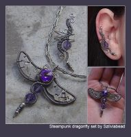 Steampunk dragonfly set by bodaszilvia