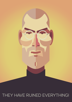 Steve Jobs: They have ruined everything! by badendesing