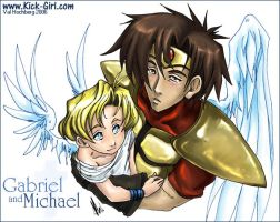 Gabriel and Michael by valval