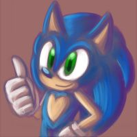 Sonic - cruddy vent painting by Azuroru